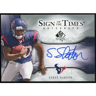 2009 Upper Deck SP Authentic Sign of the Times #STSS Steve Slaton Autograph