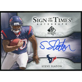 2009 Upper Deck SP Authentic Sign of the Times #STSS Steve Slaton Autograph