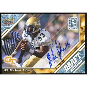 2009 Upper Deck Draft Edition Autographs Blue #5 Michael Johnson Autograph /25