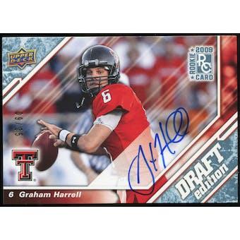 2009 Upper Deck Draft Edition Autographs Blue #18 Graham Harrell Autograph /25