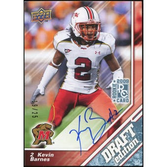 2009 Upper Deck Draft Edition Autographs Blue #25 Kevin Barnes Autograph 19/25