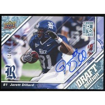 2009 Upper Deck Draft Edition Autographs Blue #40 Jarett Dillard Autograph /25