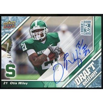 2009 Upper Deck Draft Edition Autographs Blue #43 Otis Wiley Autograph /25
