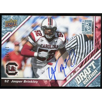 2009 Upper Deck Draft Edition Autographs Blue #60 Jasper Brinkley Autograph /25
