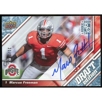 2009 Upper Deck Draft Edition Autographs Blue #63 Marcus Freeman Autograph /25