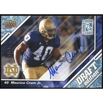 2009 Upper Deck Draft Edition Autographs Blue #64 Maurice Crum Autograph /25