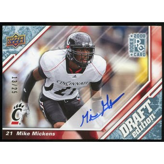 2009 Upper Deck Draft Edition Autographs Blue #75 Mike Mickens Autograph /25