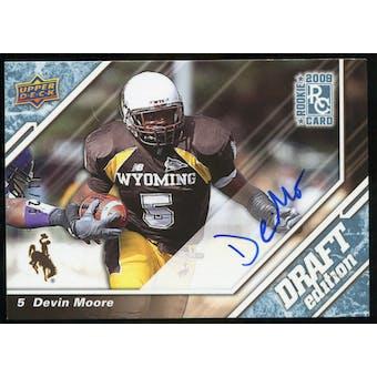 2009 Upper Deck Draft Edition Autographs Blue #79 Devin Moore Autograph /25