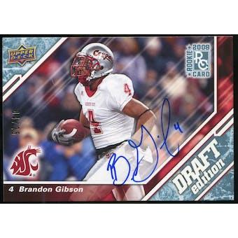 2009 Upper Deck Draft Edition Autographs Blue #88 Brandon Gibson Autograph /25