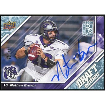 2009 Upper Deck Draft Edition Autographs Blue #91 Nathan Brown Autograph /25