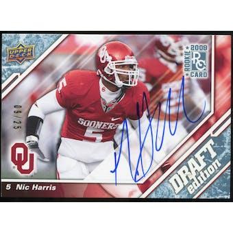 2009 Upper Deck Draft Edition Autographs Blue #99 Nic Harris Autograph /25