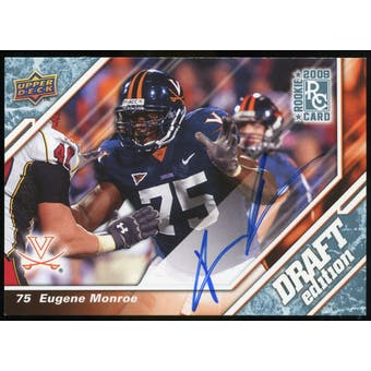 2009 Upper Deck Draft Edition Autographs Blue #107 Eugene Monroe Autograph /25
