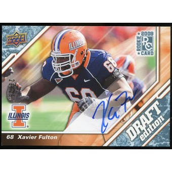2009 Upper Deck Draft Edition Autographs Blue #108 Xavier Fulton Autograph /25