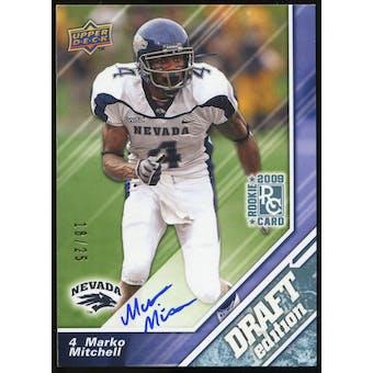 2009 Upper Deck Draft Edition Autographs Blue #114 Marko Mitchell Autograph /25