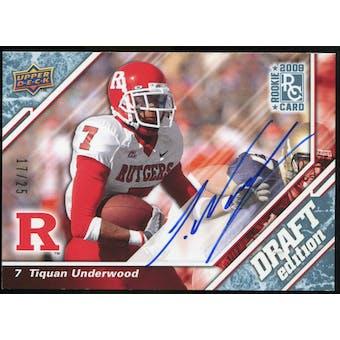 2009 Upper Deck Draft Edition Autographs Blue #119 Tiquan Underwood Autograph /25