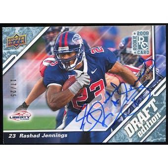 2009 Upper Deck Draft Edition Autographs Blue #127 Rashad Jennings Autograph /25