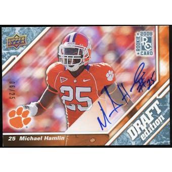 2009 Upper Deck Draft Edition Autographs Blue #129 Michael Hamlin Autograph /25