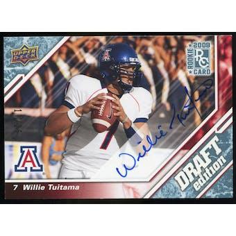 2009 Upper Deck Draft Edition Autographs Blue #133 Willie Tuitama Autograph /25