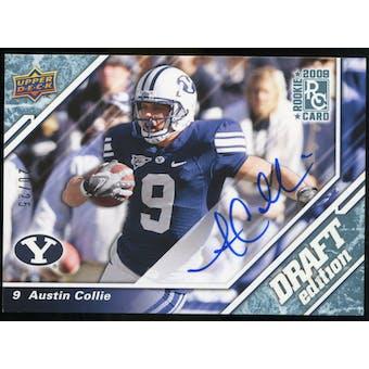 2009 Upper Deck Draft Edition Autographs Blue #137 Austin Collie Autograph /25