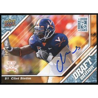 2009 Upper Deck Draft Edition Autographs Blue #145 Clint Sintim Autograph /25