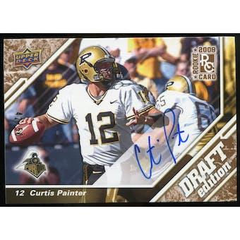 2009 Upper Deck Draft Edition Autographs Copper #1 Curtis Painter Autograph /50