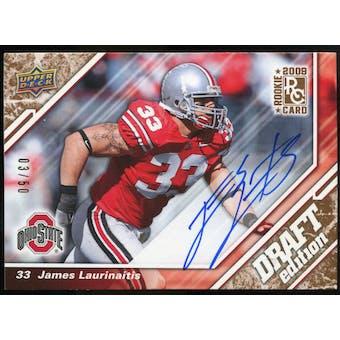 2009 Upper Deck Draft Edition Autographs Copper #10 James Laurinaitis Autograph /50