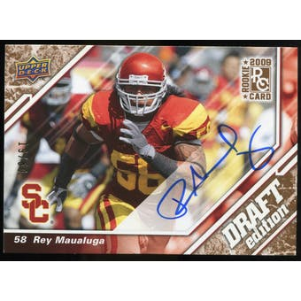 2009 Upper Deck Draft Edition Autographs Copper #11 Rey Maualuga Autograph /50