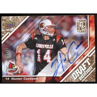 2009 Upper Deck Draft Edition Autographs Copper #12 Hunter Cantwell Autograph /50