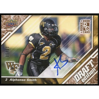 2009 Upper Deck Draft Edition Autographs Copper #14 Alphonso Smith Autograph /50