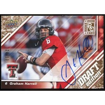 2009 Upper Deck Draft Edition Autographs Copper #18 Graham Harrell Autograph /50