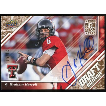 2009 Upper Deck Draft Edition Autographs Copper #18 Graham Harrell Autograph /50