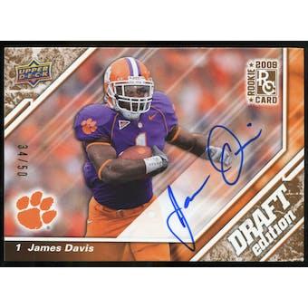 2009 Upper Deck Draft Edition Autographs Copper #20 James Davis Autograph /50