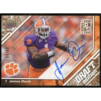 2009 Upper Deck Draft Edition Autographs Copper #20 James Davis Autograph /50