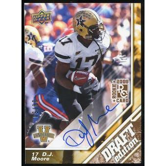 2009 Upper Deck Draft Edition Autographs Copper #22 D.J. Moore Autograph /50