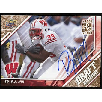 2009 Upper Deck Draft Edition Autographs Copper #24 P.J. Hill Autograph /50