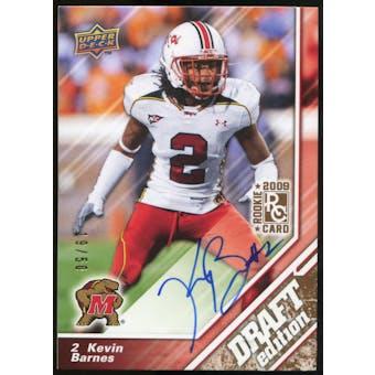 2009 Upper Deck Draft Edition Autographs Copper #25 Kevin Barnes Autograph /50