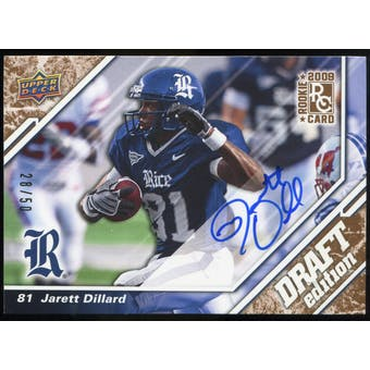 2009 Upper Deck Draft Edition Autographs Copper #40 Jarett Dillard Autograph /50