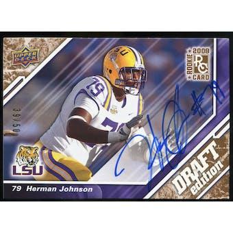2009 Upper Deck Draft Edition Autographs Copper #42 Herman Johnson Autograph /50