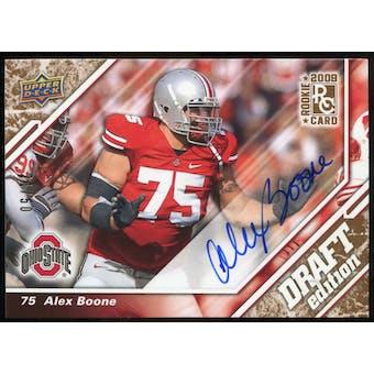 2009 Upper Deck Draft Edition Autographs Copper #46 Alex Boone Autograph /50