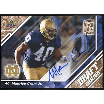 2009 Upper Deck Draft Edition Autographs Copper #64 Maurice Crum Autograph /50