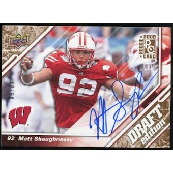 2009 Upper Deck Draft Edition Autographs Copper #74 Matt Shaughnessy Autograph /50