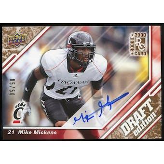 2009 Upper Deck Draft Edition Autographs Copper #75 Mike Mickens Autograph /50
