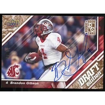 2009 Upper Deck Draft Edition Autographs Copper #88 Brandon Gibson Autograph /50