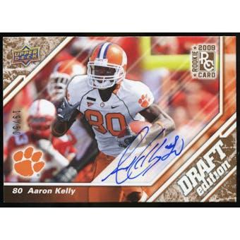 2009 Upper Deck Draft Edition Autographs Copper #89 Aaron Kelly Autograph /50