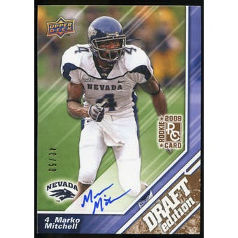 2009 Upper Deck Draft Edition Autographs Copper #114 Marko Mitchell Autograph /50