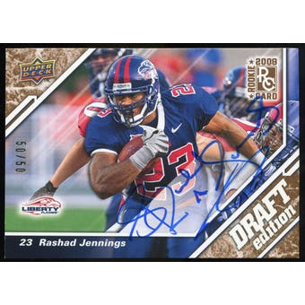 2009 Upper Deck Draft Edition Autographs Copper #127 Rashad Jennings Autograph /50