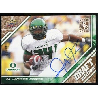 2009 Upper Deck Draft Edition Autographs Copper #128 Jeremiah Johnson Autograph /50