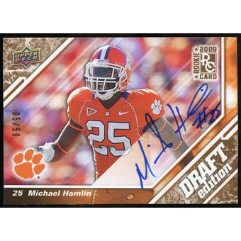 2009 Upper Deck Draft Edition Autographs Copper #129 Michael Hamlin Autograph /50
