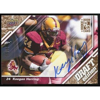 2009 Upper Deck Draft Edition Autographs Copper #132 Keegan Herring Autograph /50