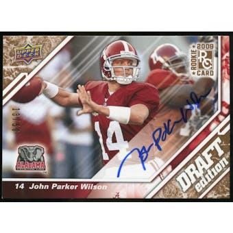 2009 Upper Deck Draft Edition Autographs Copper #141 John Parker Wilson Autograph /50